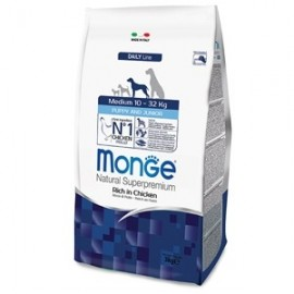 Natural Superpremium Medium Puppy & Junior Ricco Di Pollo - Monge