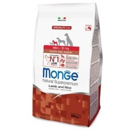 Natural Superpremium Mini Puppy & Junior Agnello E Riso - Monge