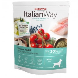 Italian Way Ideal Weight Hypoallergenic Mini Adult Trota E Mirtilli - Giuntini