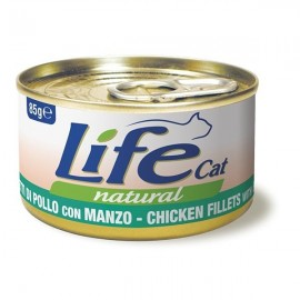 Life Cat Natural Filetti Di Pollo Con Manzo - Life Pet Care