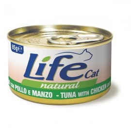Life Cat Natural Tonno Con Pollo E Manzo - Life Pet Care