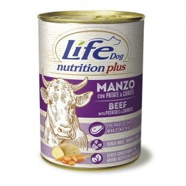 Life Dog Nutrition Plus Manzo A Pezzettoni Con Patate E Carote - Life Pet Care