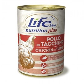 Life Dog Nutrition Plus Pollo Con Tacchino - Life Pet Care