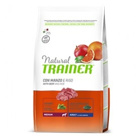 Natural Adult Medium Con Manzo E Riso - Trainer
