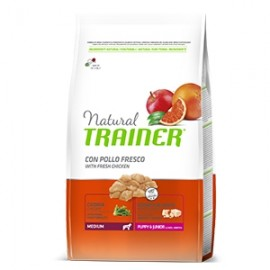 Natural Puppy & Junior Medium Con Pollo Fresco - Trainer