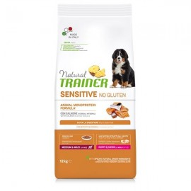 Natural Sensitive No Gluten Medium & Maxi Puppy & Junior Con Salmone - Trainer