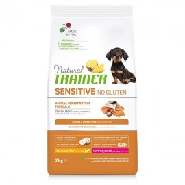 Natural Sensitive No Gluten Small & Toy Puppy & Junior Con Salmone - Trainer