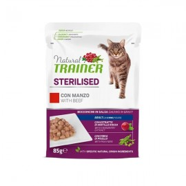 Natural Sterilised Adult Con Manzo E Fibra Di Pisello - Trainer