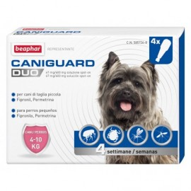 Caniguard Duo Cane Piccolo Spot-On 4-10 Kg 4 Pipette - Beaphar