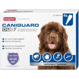 Caniguard Duo Cane Gigante Spot-On 40-60 Kg 4 Pipette - Beaphar